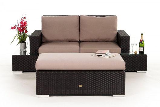 small poly-rattan lounge - garden furniture, Garten und Bauen