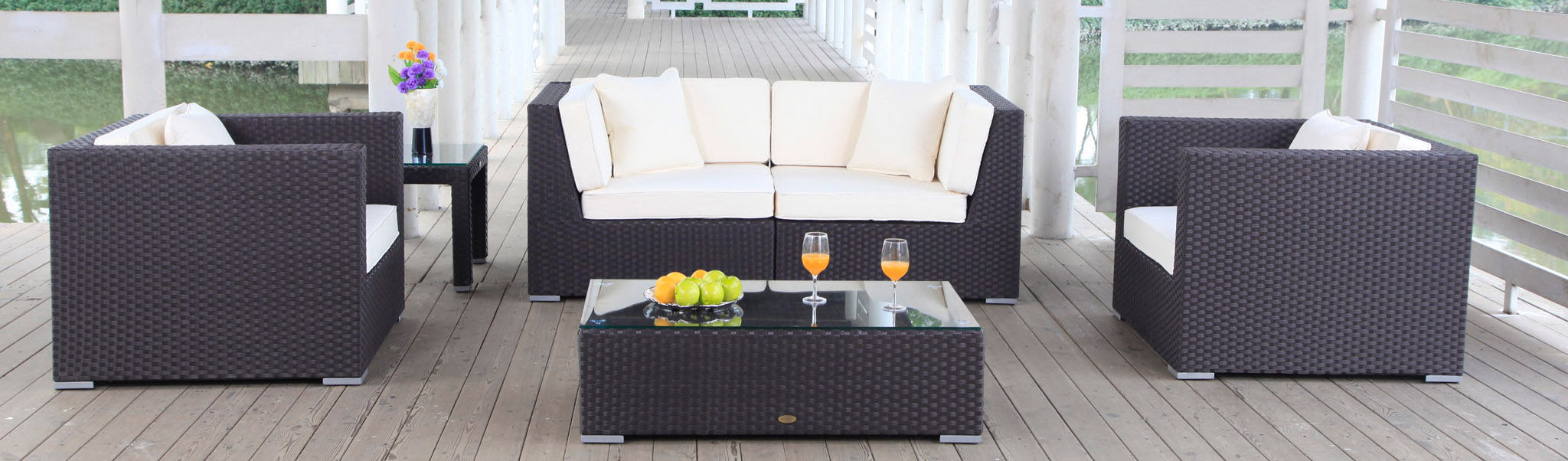 poly-rattan lounge furniture - garden furniture, Garten und Bauen